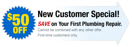 Save $50 on your first Plumbing Repair