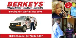 Fort Worth plumber hvac electrician berkeys