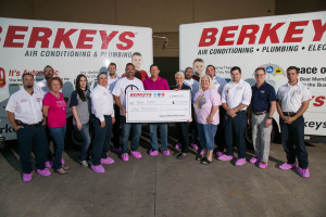 Berkeys Air Conditioning Plumbing and Electrical Sponsors Race for the Cure Team Tam Tony and Tamara Casillas