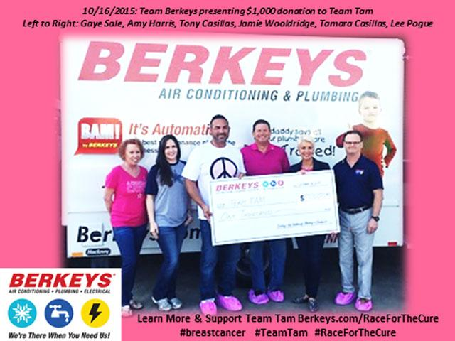 Berkeys Sponsors Tony And Tamara Casillas Team Tam In Their For Race The Cure