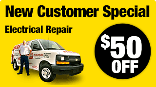 New Customer Special: $50 Off Electrical Repair