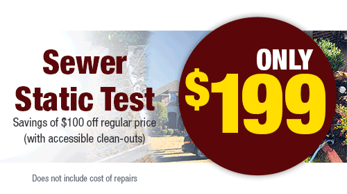 Sewer Static Test Only $199