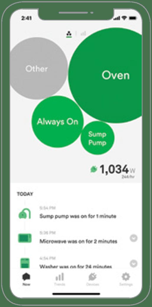 Wiser App Main Screen