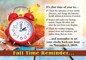 Fall Reminder