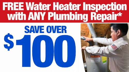 FREE Water Heater Inspection - Save Over $100