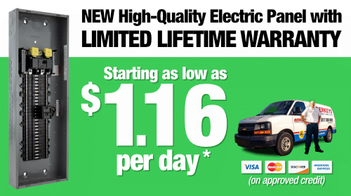 New High Quality Electrical Panel for as low as $1.16 per day