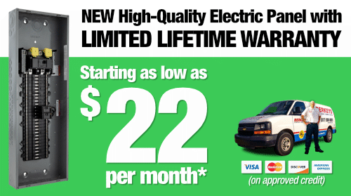 New High Quality Electrical Panel for as low as $22 per month