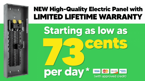New High Quality Electrical Panel for as low as 73 cents per day