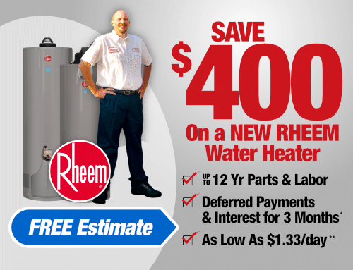 Save $400 on a New RHEEM Water Heater