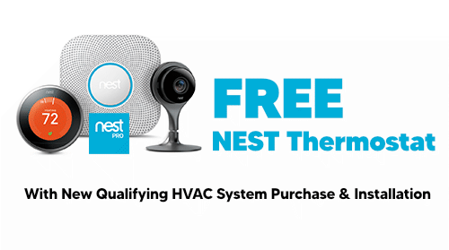 Free NEST Thermostat with Installation of Qualifying System