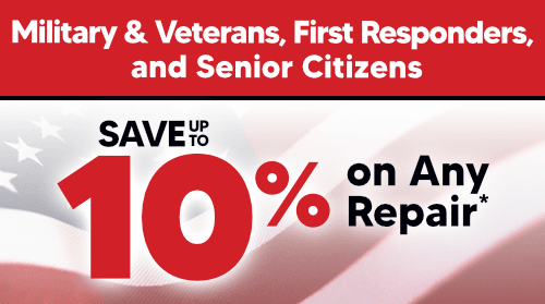 Military & Veterans, Active First Responders & Senior Citizens Discount