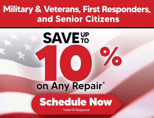 Military & Veterans, Active First Responders & Senior Citizens Discount