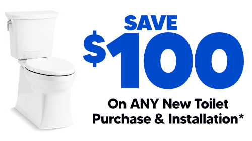 $100 Off Any New Toilet Purchase & Installation
