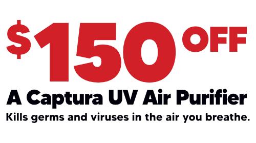 $150 Off Captura UV Air Purifier