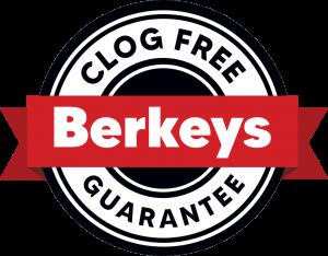 Berkeys Clog Free Guarantee