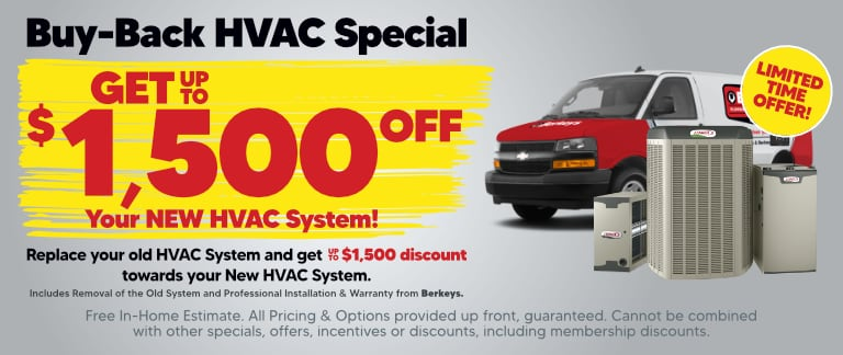 Save Up To $1,500 On Your New HVAC System