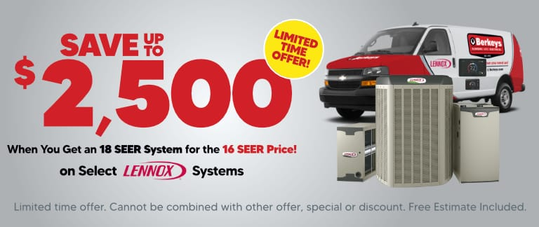 Save up to $2,500 On new Lennox Equipment