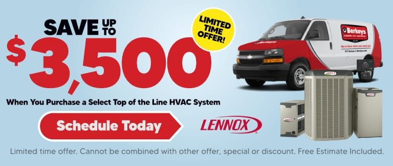Save up to $3,500 On new Lennox Equipment